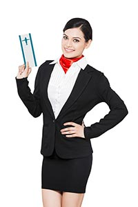 Air hostess Woman Ticket