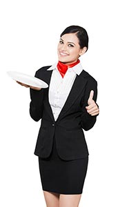 Female Waiter Taking Order