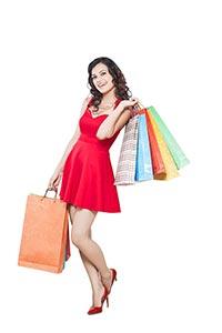 Young Woman Shopping Bags