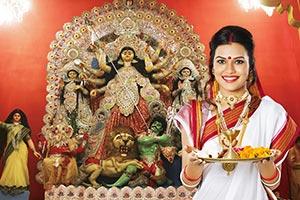 Bengali Woman Durga Puja