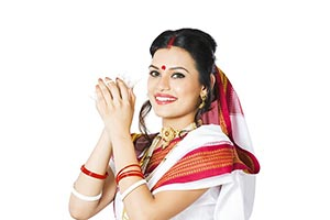 Indian Bengali Woman Worship