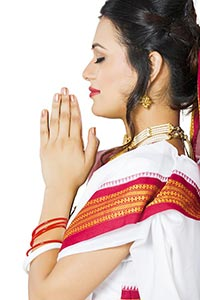 Indian Bengali Woman Praying