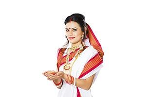 Bengali Woman Holding Diya
