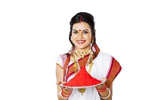 Bengali Woman Colour Greeting