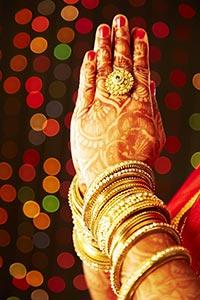 Traditional Indian Bride Wedding Praying