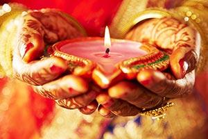 Bride Marriage Holding Diya Praying