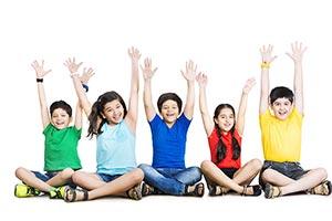 3-5 People ; Arms Raised ; Bonding ; Boys ; Carefr