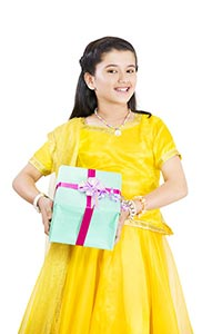 Indian Child Girl Diwali Gift Box