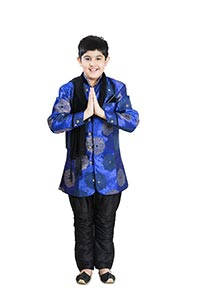 Indian Child Boy Diwali Welcome Namaste