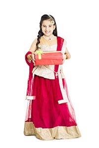 Little Girl Diwali Festival Gift Box