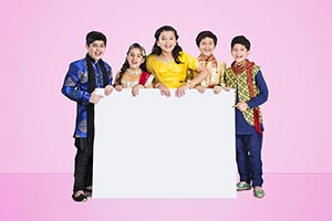 Group Kids Friends Diwali Message Board