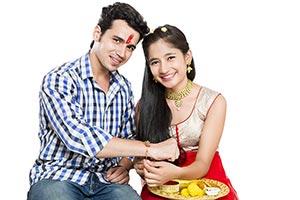 Rakshabandhan Tying Rakhi