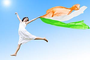 Indian;Girl Republic day