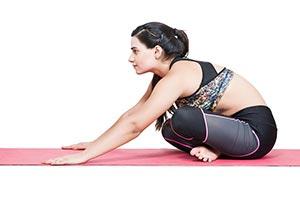 Woman Sitting Cross-legged Exercise