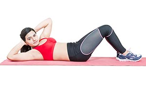 Exercise Sport Woman Doing Situps
