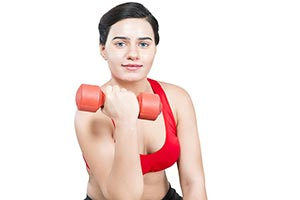 Indian Woman Lifting Heavy weights