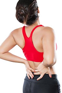 Woman Lower Back Pain Midsection