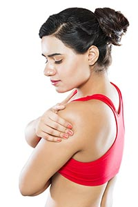 Woman Shoulder Joint Pain