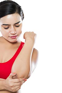 Woman Acute Pain Elbow