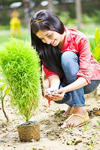 Girl Environmentalists Plant-life