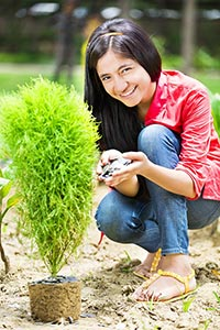 Girl Environmentalists Money Plant-life