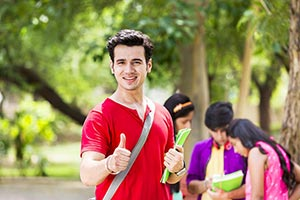 Teenager College Boy Showing Thumbs Up