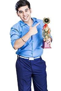 Student Achievement Trophy Showing