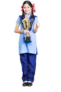 Student Victory Trophy Thumbs up