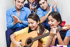 Teacher Students Teaching Music