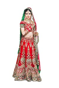 Indian Woman Happy Marriage Standing