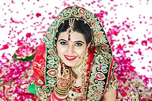 Indian Woman Wedding Happy