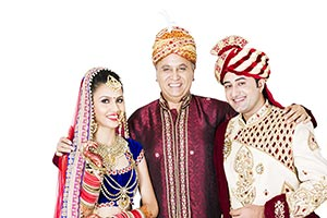 Bride Groom With Father