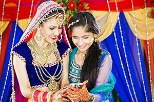 Bride Sister Mobile Chatting