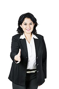 Middle aged Business Woman Handshake