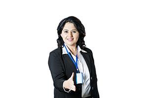 Indian Businesswoman Shaking Hand