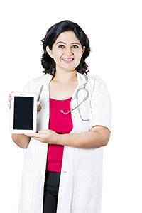 Medical Doctor Showing Digital tablet pc