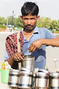 Man Selling Bhelpuri Hawker Street Vendor