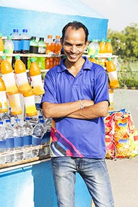Indian Vendor Cold Drink Small Business