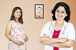 Indian Doctor Pregnant Woman Dreaming