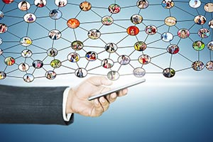 Businessman Smartphone Social Networking Digital