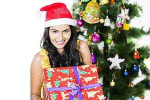Young Woman Christmas Gift