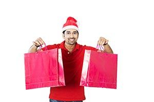 Christmas Man Shopping Bags