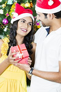 Indian Couple Christmas Presents