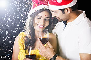 Couple New Year party