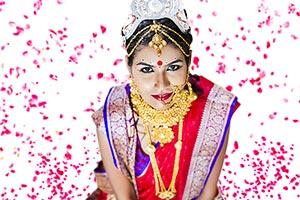 Bride Bengali Wedding Falling Flower