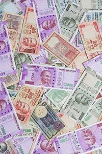 Indian Rupees Notes Heap Lottery Money