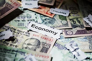 Money Rupees Stock Market Debt Economic Problem