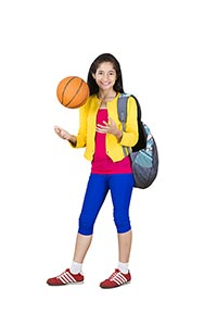 1 Person Only ; Bag ; Ball ; Basket Ball ; Carefre