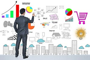 Businessman Illustration Painting Stock Market Wri