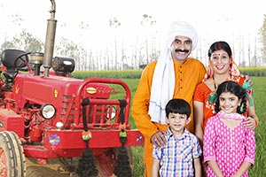 Indian Rural Farmer Family Farm Uttar Pradesh